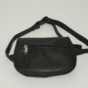 UNISEX WAIST BAG LEATHER BLACK